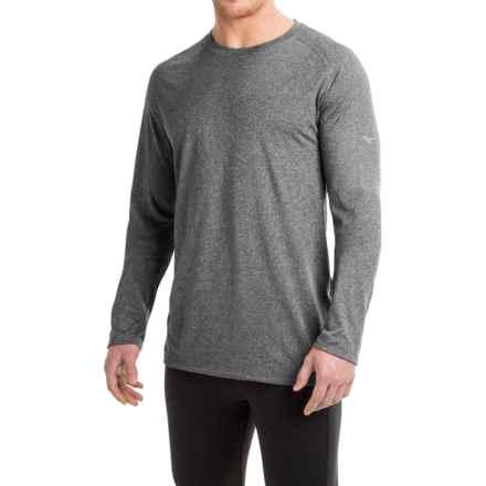 Mizuno Inspire 2.0 Shirt - Long Sleeve (For Men) in Dark Charcoal - Closeouts