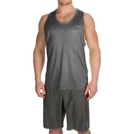 Mizuno Inspire 2.0 Singlet Shirt - Sleeveless (For Men) in Dark Charcoal - Closeouts