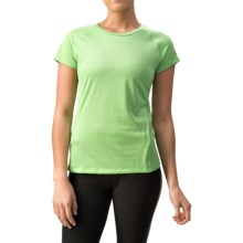 Mizuno Inspire Shirt - Short Sleeve (For Women) in Green Grass - Closeouts