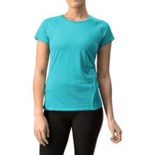Mizuno Inspire Shirt - Short Sleeve (For Women) in Lake Blue/Haute Red - Closeouts