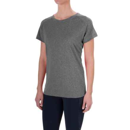 Mizuno Inspire T-Shirt - Short Sleeve (For Women) in Dark Charcoal - Closeouts