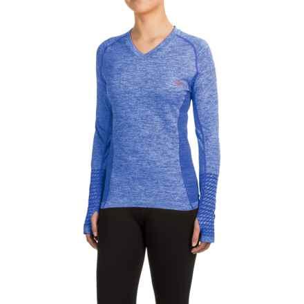 Mizuno Seeker Shirt - Long Sleeve (For Women) in Dazzling Blue - Closeouts