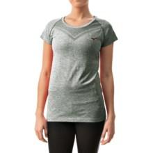 Mizuno Seeker Shirt - Short Sleeve (For Women) in Turbulence/Haute Red - Closeouts