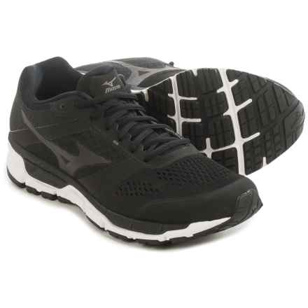 Mizuno Synchro MX Running Shoes (For Men) in Black/White - Closeouts