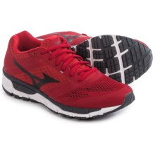 Mizuno Synchro MX Running Shoes (For Men) in Chinese Red/Black - Closeouts