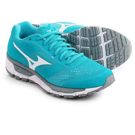Mizuno Synchro MX Running Shoes (For Women) in Blue Atoll/White - Closeouts