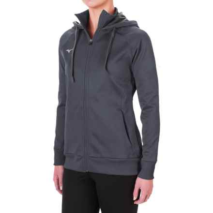 Mizuno Track Hoodie (For Women) in Dark Charcoal - Closeouts