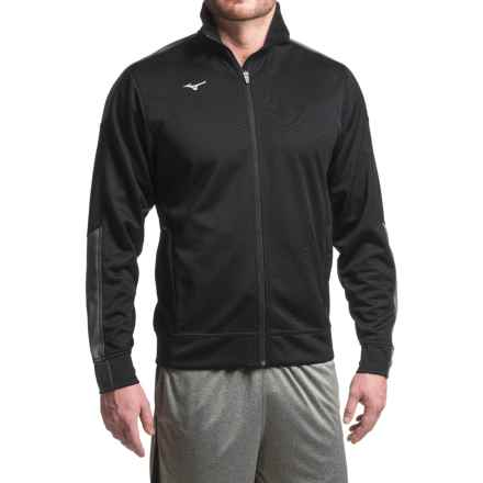 Mizuno Track Jacket (For Men) in Black - Closeouts