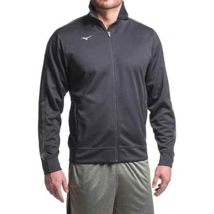 Mizuno Track Jacket (For Men) in Dark Charcoal - Closeouts