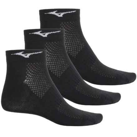 Mizuno Training Mid Socks - 3-Pack, Below the Ankle (For Men and Women) in Black - Closeouts