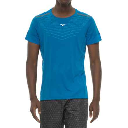 Mizuno Venture 2.0 Tradewinds T-Shirt - Short Sleeve (For Men) in Nautical Blue - Closeouts