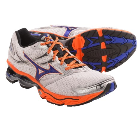 Mizuno Wave Creation 14 Running Shoes (For Men) in Dude Blue/Vibrant Orange/Anthracite