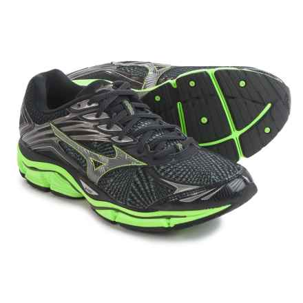 Mizuno Wave Enigma 6 Running Shoes (For Men) in Black/Green Flash - Closeouts