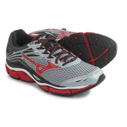 Mizuno Wave Enigma 6 Running Shoes (For Men) in Charcoal Gray/High Risk Red - Closeouts