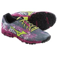 Mizuno Wave Hayate Trail Running Shoes (For Women) in Turbulence/Green Glow - Closeouts