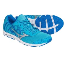 Mizuno Wave Hitogami 2 Running Shoes (For Women) in Blue Atoll/Silver - Closeouts
