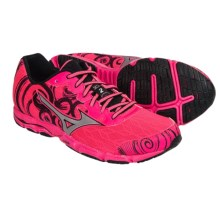 Mizuno Wave Hitogami 2 Running Shoes (For Women) in Neon Pink/Silver - Closeouts