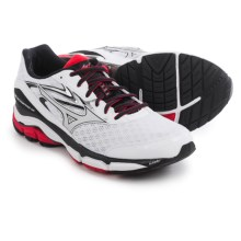 Mizuno Wave Inspire 12 Running Shoes (For Men) in White/High Risk Red - Closeouts