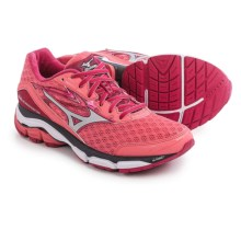 Mizuno Wave Inspire 12 Running Shoes (For Women) in Calypso Coral/Silver - Closeouts