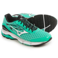 Mizuno Wave Inspire 12 Running Shoes (For Women) in Electric Green/White - Closeouts