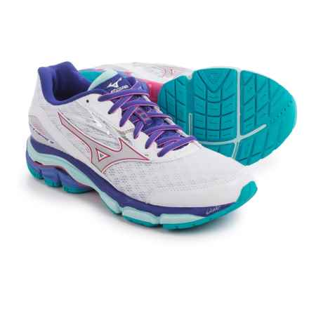 Mizuno Wave Inspire 12 Running Shoes (For Women) in White/Silver - Closeouts