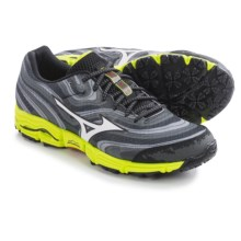 Mizuno Wave Kazan Trail Running Shoes (For Men) in Dark Shadow/White - Closeouts