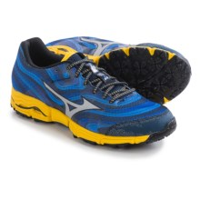 Mizuno Wave Kazan Trail Running Shoes (For Men) in Dress Blue/Silver - Closeouts