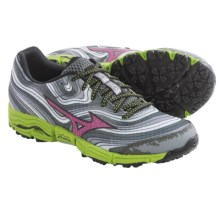 Mizuno Wave Kazan Trail Running Shoes (For Women) in Alloy/Wild Aster - Closeouts