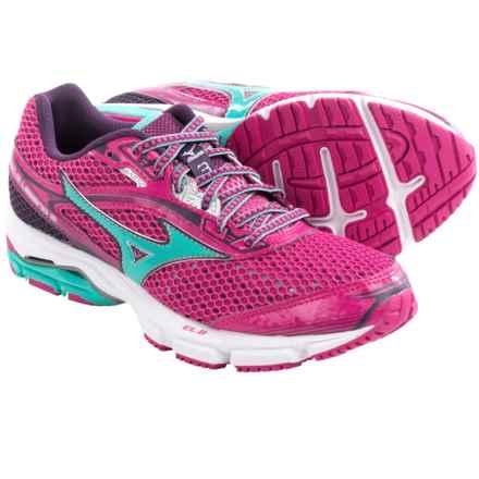 Mizuno Wave Legend 3 Running Shoes (For Women) in Fuchsia Purple/Waterfall - Closeouts