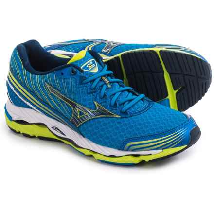 Mizuno Wave Paradox 2 Running Shoes (For Men) in Electric Blue Lemonade/Dress Blue - Closeouts