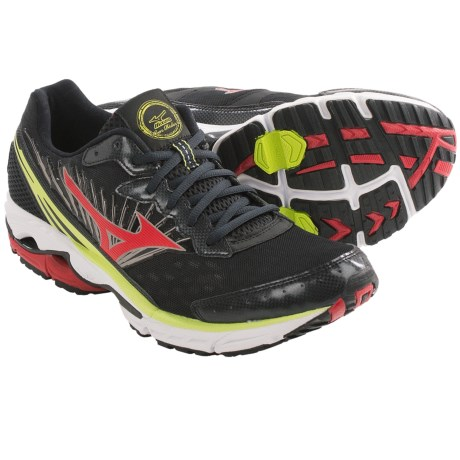 Mizuno Wave Rider 16 Running Shoes (For Men) in Orange/Silver/Blazing Yellow
