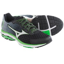 Mizuno Wave Rider 18 Running Shoes (For Men) in Black/Silver - Closeouts