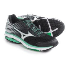 Mizuno Wave Rider 18 Running Shoes (For Women) in Black/Silver - Closeouts