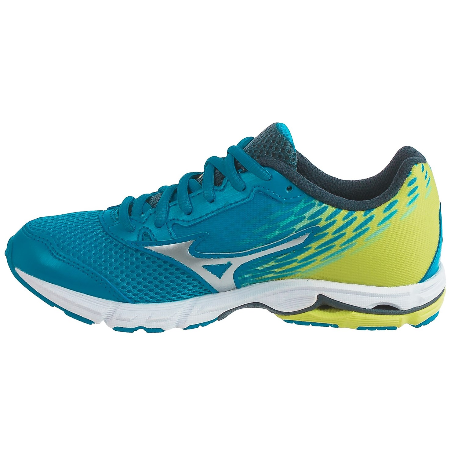 mizuno wave rider 19 running shoes for little and big