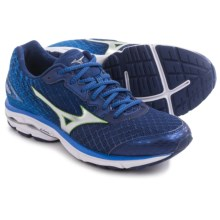 Mizuno Wave Rider 19 Running Shoes (For Men) in Medievel Blue/Green Flash - Closeouts