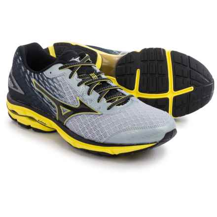 Mizuno Wave Rider 19 Running Shoes (For Men) in Pearl/Black - Closeouts