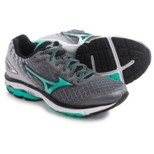 Mizuno Wave Rider 19 Running Shoes (For Women) in Alloy/Electric Green - Closeouts