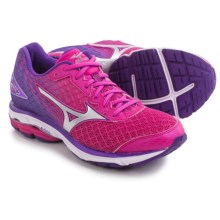 Mizuno Wave Rider 19 Running Shoes (For Women) in Fuchsia Purple/Silver - Closeouts