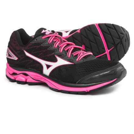 Mizuno Wave Rider 20 Running Shoes (For Women) in Black/White/Pink Glow - Closeouts
