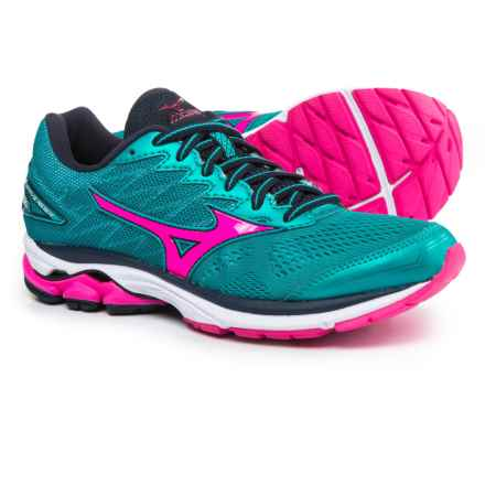 Mizuno Wave Rider 20 Running Shoes (For Women) in Staff/Phlox Pink - Closeouts