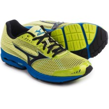 Mizuno Wave Sayonara 3 Running Shoes (For Men) in Bright Lime/Black - Closeouts