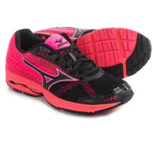 Mizuno Wave Sayonara 3 Running Shoes (For Women) in Black/Neon Pink - Closeouts