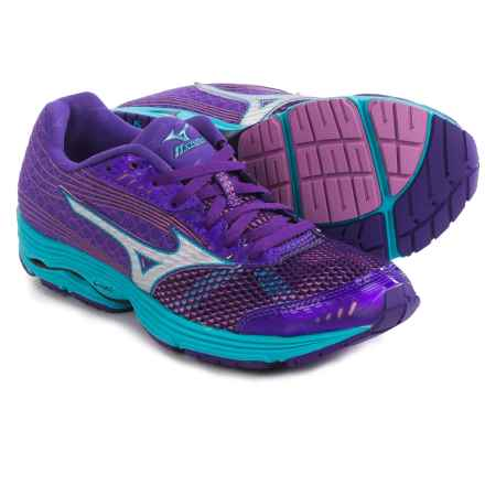 Mizuno Wave Sayonara 3 Running Shoes (For Women) in Royal Purple/Silver - Closeouts