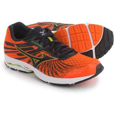 Mizuno Wave Sayonara 4 Running Shoes (For Men) in Clownfish/Black - Closeouts
