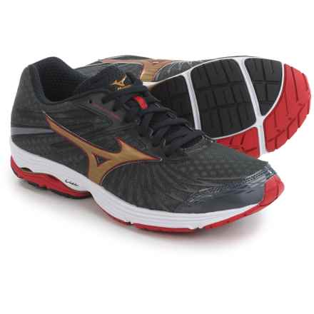 Mizuno Wave Sayonara 4 Running Shoes (For Men) in Dark Shadow/Gold - Closeouts