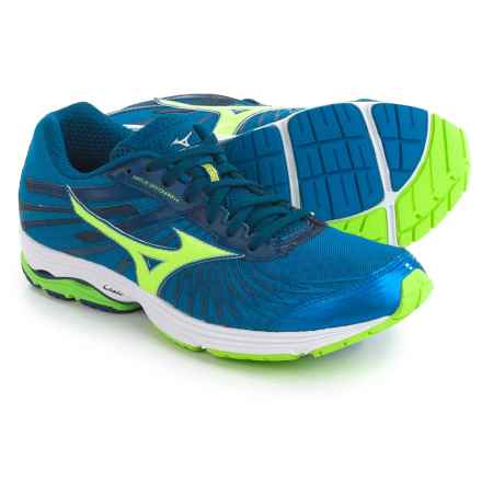 Mizuno Wave Sayonara 4 Running Shoes (For Men) in Sky Blue/Green Flash - Closeouts
