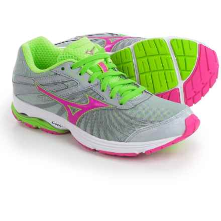 Mizuno Wave Sayonara 4 Running Shoes (For Women) in Grey/Pink - Closeouts