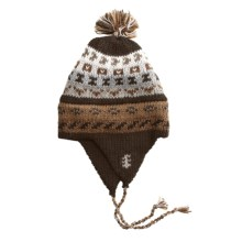 ML Kessler Chullo Hat - Alpaca Wool, Fleece Lined (For Men and Women) in Chocolate - Closeouts