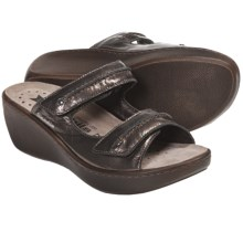 Mobils Ergonomic by Mephisto Sophia Wedge Sandals (For Women) in Pewter Crinkle Patent - Closeouts