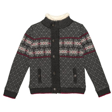 Image of Mock Neck Cardigan Sweater (For Little Boys)
